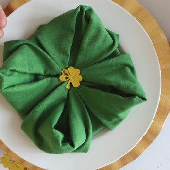 St Patrick S Day St Patricks Day Napkins Napkin Folding St