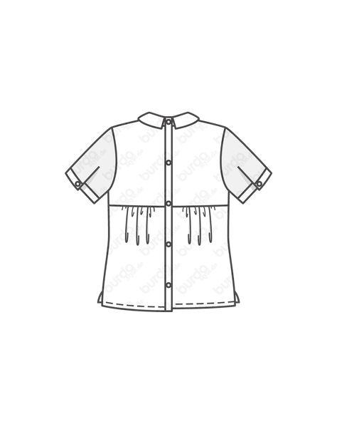 Bluse und im Rücken geknöpft HW 2010 #7432 | Mode zum Selbernähen im burda style Onlineshop.