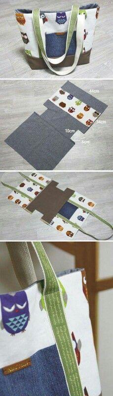 Schnittmuster für eine geräumige Tasche