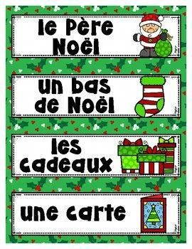French Word Wall Noel Frenchlessons Franca