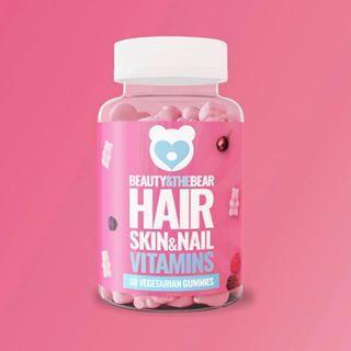 Vegetarian Hair Skin And Nail Gummy Vitamins Beauty The Bear Hair And Nails Vitamins Nail Vitamins Hair Vitamins