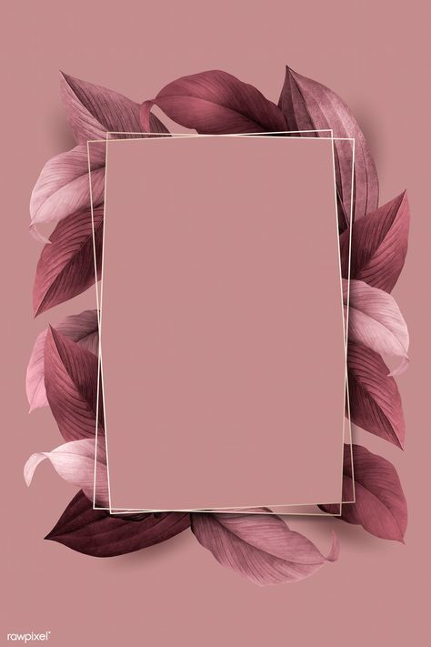 Rectangle foliage frame on pink background vector | premium image by rawpixel.com / wan