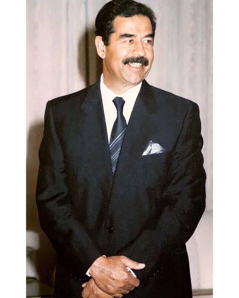 610 Likes 16 Comments صد ام حسين Sz0i On Instagram ليس بوسع أحد أن يملأ مكان أحد فالأماكن Suit Jacket Iraqi President Single Breasted Suit Jacket