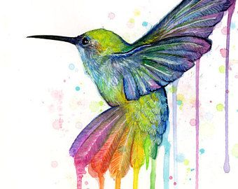 Hummingbird Watercolor Art Print Hummingbird Painting Hummingbird Wall Art Hummingbird Print Ra Hummingbird Wall Art Nursery Animal Prints Hummingbird Painting