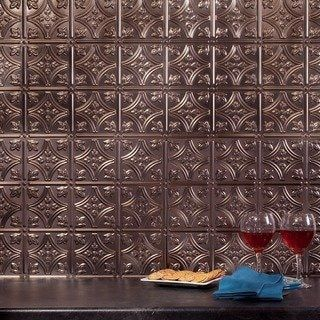 Shop For Fasade Traditional Style 1 Brushed Nickel Backsplash 18 Inch X 24 Inch Panel And More For Everyday Decorative Backsplash Backsplash Panels Backsplash