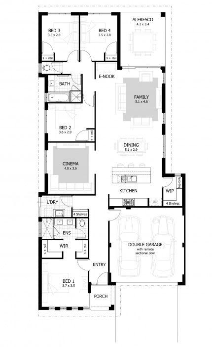 Hopkins Floor Plan Narrow House Plans Modern House Floor Plans Narrow Lot House Plans