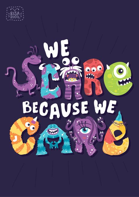 Monsters, Inc (2001) ~ Movie Quote Poster by Risa Rodil #amusementphile