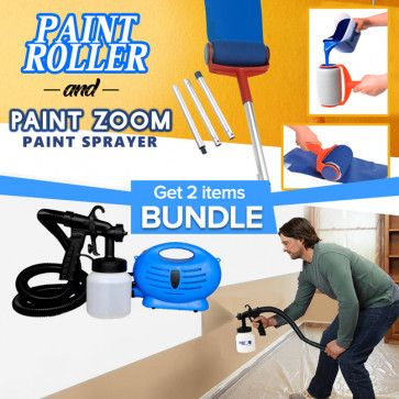 Buy Bundle Offer Paint Zoom Professional Paint Sprayer With Paint Roller Smart Facil Painter Advanced Spray Technology Deliv Paint Roller Paint Sprayer Roller