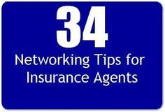 Networking Tips For Insurance Agents 34 Smart Ideas Life