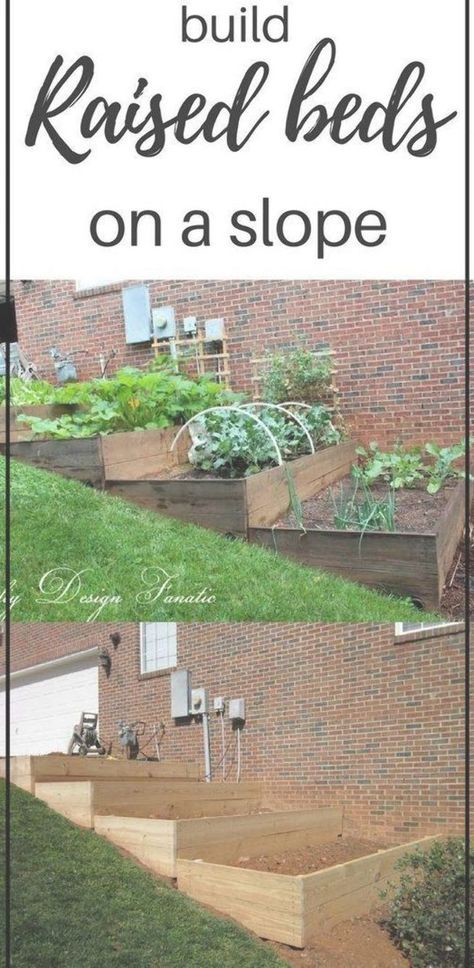 Raised Beds Diy On A Slope Vegetable