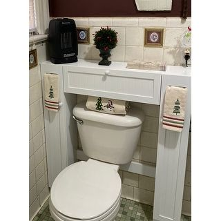 Simple Living Space Saver Over The Toilet Grey Gray Wood In 2020 Living Spaces Bathroom Cabinets Simple