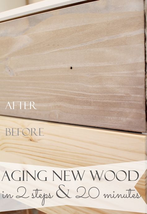 How to make new wood look old and weathered in minutes! It only takes 2 steps