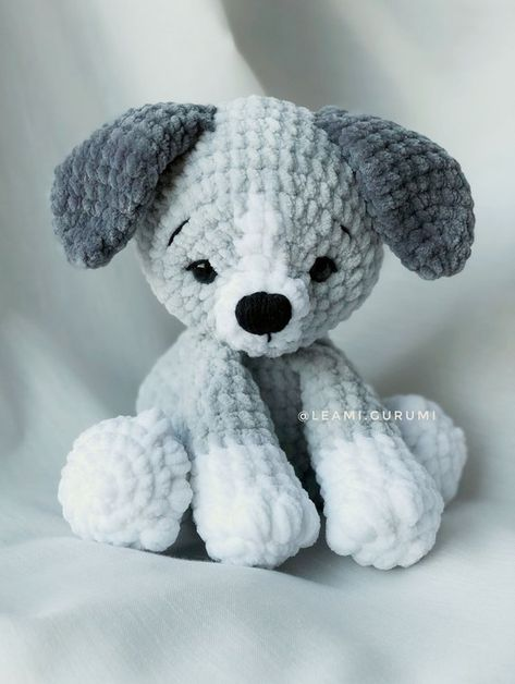 PDF ENGLISH Crochet Pattern Milo The Puppy Dog by leami | Etsy
