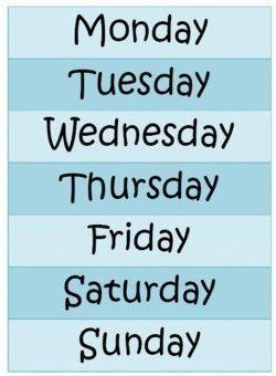 Tableau Jour De La Semaine En Anglais : tableau, semaine, anglais, Affichage, Jours, Semaine, #apprendreanglais,apprendreanglaisenfant,anglaisfacile,coursanglais,parl…, Learn, English,, School, Tool,, Monday, Tuesday, Wednesday