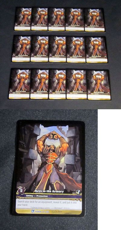 CCG Individual Cards 183454: Lot Of (15) World Of Warcraft Wow Tcg