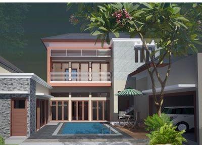 rumah minimalis 2 lantai kolam renang - desain minimalis