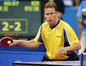 Jan Ove Waldner Commonly Known As Jo Waldner Is One Of The World S Best Table Tennis Players Ever And He Has Table Tennis Player Table Tennis Tennis Legends