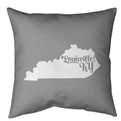 East Urban Home Kentucky Indoor Outdoor Throw Pillow Wayfair 1000 Throw Pillows Outdoor Throw Pillows Pillows