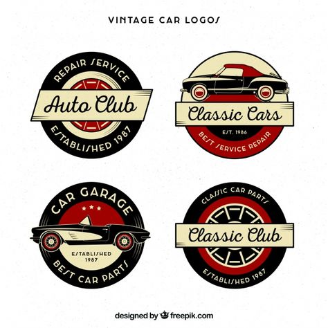 Baixe Colecao Do Logotipo Do Carro Vintage Gratuitamente Em 2020
