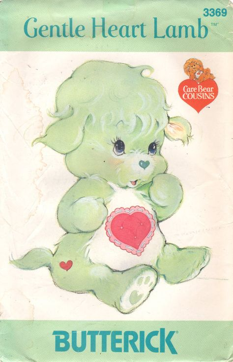 Butterick 3369 364 GENTLE HEART LAMB Care Bear Cousin Mary had a little labm vintage soft toy sewing pattern by mbchills Lisa Frank, Sewing Toys, Sewing Crafts, Care Bear Tattoos, Care Bears Vintage, Vintage Patterns, Cousins, Vintage Toys, Cute Art