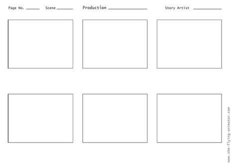 storyboard template 3x4 01 - The Flying Animator Tools \ Tricks - sample script storyboard