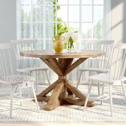 Peralta Round Rustic Dining Table Dining Table Dining Table