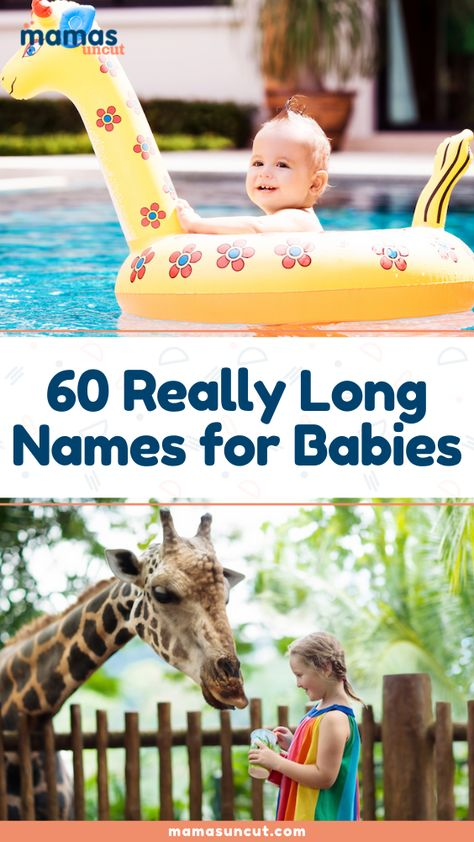 Discover long names for girls and boys that new parents love.