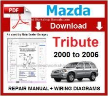 Mazda Tribute Workshop Repair Manual Repair Service Wiring