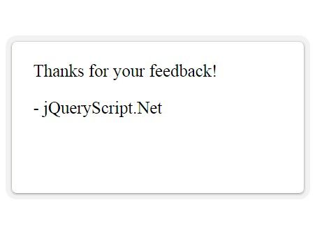 A Minimal And Clean Jquery Plugin To Add A Feedback Widget On Your
