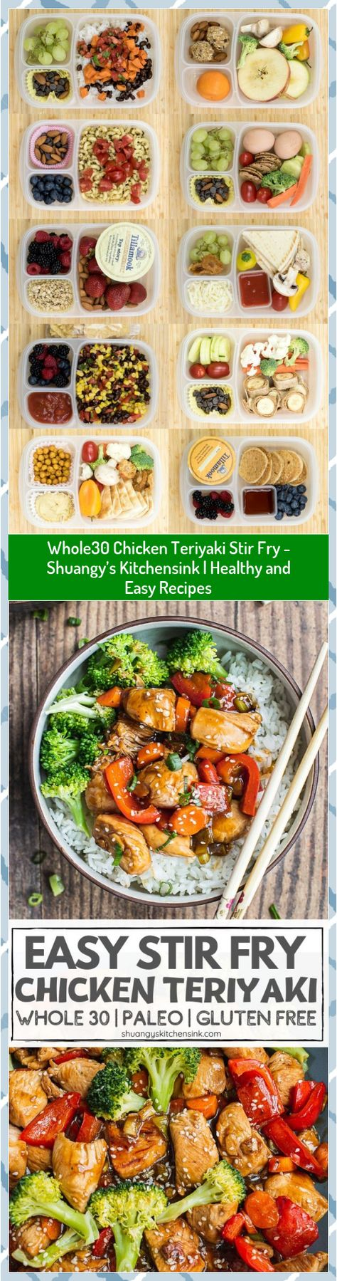 Whole30 Chicken Teriyaki Stir Fry - Shuangy's Kitchensink | Healthy and Easy Recipes #Chicken #Easy #Fry #Healthy #Kitchensink #Recipes #Shuangys #Stir #Teriyaki #Whole30