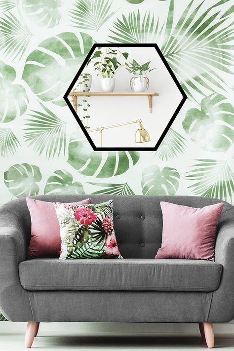 Leroymerlin Leroymerlinpolska Dlabohaterowdomu Domoweinspiracje Pokojdzienny Urbanjungle Lustro Heksagon Home Decor Decor Furniture
