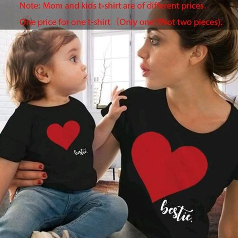 Mommy & Me Bestie's - black red / mother S (1 PCS)
