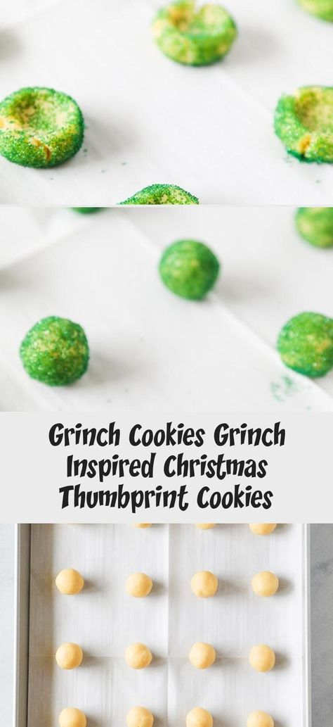 Grinch Cookies are the cutest Christmas cookie thumbprints around! Easy to make and perfect for Grinchy gift giving! #cookies #sweet #dessert #christmas #Mexicanholidaysrecipes #Vegetarianholidaysrecipes #Fancyholidaysrecipes #GlutenFreeholidaysrecipes #Southernholidaysrecipes #grinchcookies Grinch Cookies are the cutest Christmas cookie thumbprints around! Easy to make and perfect for Grinchy gift giving! #cookies #sweet #dessert #christmas #Mexicanholidaysrecipes #Vegetarianholidaysrecipes #Fa