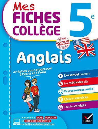 Newtonpdvlivre Abdulbadia Telecharger Mes Fiches College Anglais 5e Fic En 2020 College Anglais Oral Francais Livres A Lire