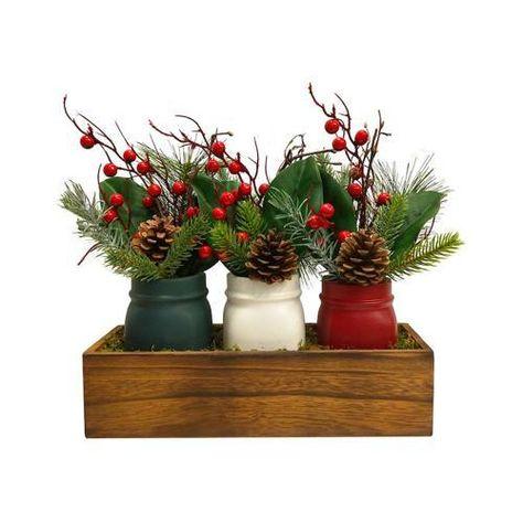 Products SONOMA Goods for Life 3 Piece Mason Jar Decor, White #ChristmasDecorIdeas #christmasdecorideas