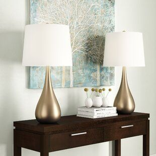 Gold Table Lamps You Ll Love Wayfair Table Lamp Sets Table Lamp Lamp