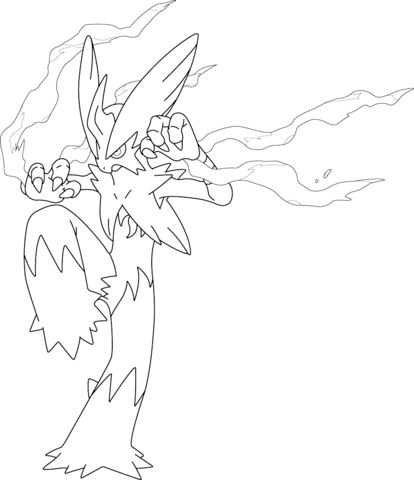 Mega Blaziken Pokemon Coloring Page Super Coloring Pages