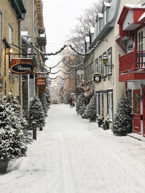 christmas village in Quebec City We visited Quebec City in Canada at Christmas time and it was magical! Here's my Quebec City travel guide. What to pack, what to eat, what to do, and my overall experience for this amazing vacation! Christmas Town, Christmas Travel, Canada Christmas, Quebec City Christmas, Quebec Winter, City Aesthetic, Travel Aesthetic, Dream Vacations, Vacation Spots