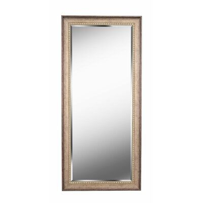 Foundry Select Brunswick Floor Rustic Beveled Distressed Full Length Mirror Finish Antiqued Gold Mirror
