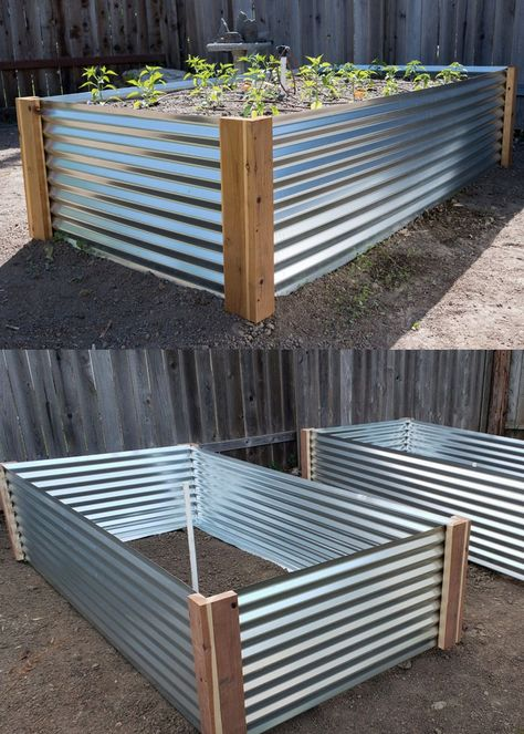 28 Best DIY raised bed gardens: easy tutorials, ideas & designs to build raised beds or vegetable & flower garden box planters with inexpensive materials! - A Piece of Rainbow backyard, landscaping, gardening tips, homesteading Garden Yard Ideas, Diy Garden Projects, Garden Boxes, Diy Garden Bed, Outdoor Projects, Raised Bed Garden Design, Vegetable Garden Design, Vegetable Gardening, Raised Bed Diy