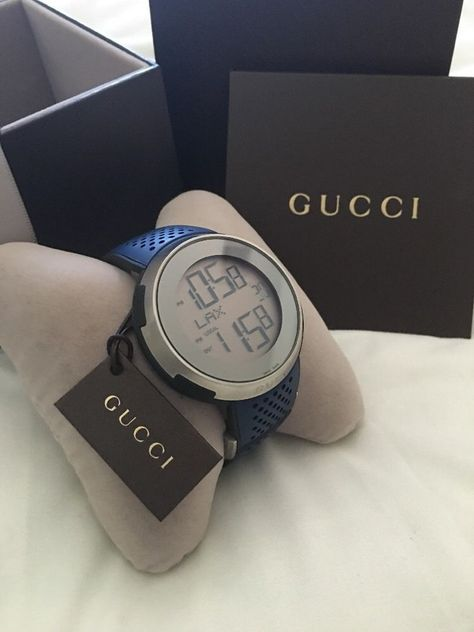 Authentic Gucci I Gucci XXL Sport Digital Mens Watch YA114105 731903330245 | eBay