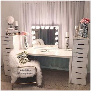 Vanity Makeup Table From Target Makeup Vanity Table Ikea Makeup Vanities With Drawers Makeup Vanity Table And Bench M Glam Room Room Inspiration Room Decor