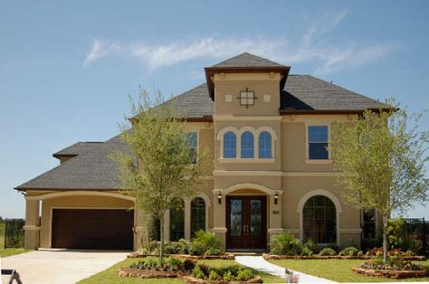 Exterior House Colors | One of my favorite combinations on a 1907 plan with the Mediterranean ...
