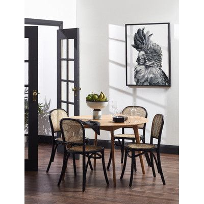 Temple Webster Luca Beech And Rattan Dining Chair Reviews