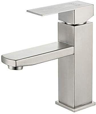 Alo Stainless Steel Bathroom Faucet Wash Basin Sink Faucet Single Handle Classic Square Bathro In 2020 Square Bathroom Sink Bathroom Faucets Stainless Steel Bathroom