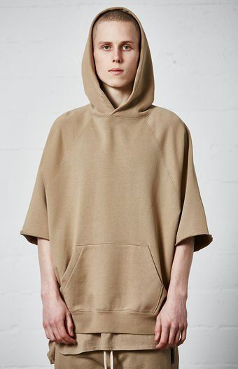 The Cutoff Sleeve Pullover Hoodie Has A Soft Terry Lining A Kangaroo Pocket A Matching Hood And Raglan Short Sleeves With Ra Pullover Hoodie Hoodies Sleeves