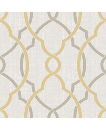 Brewster Home Fashions Sausalito Taupe Or Yellow Peel And Stick Wallpaper Reviews Wallpaper Home Decor Macy S Peel And Stick Wallpaper Nuwallpaper Removable Wallpaper