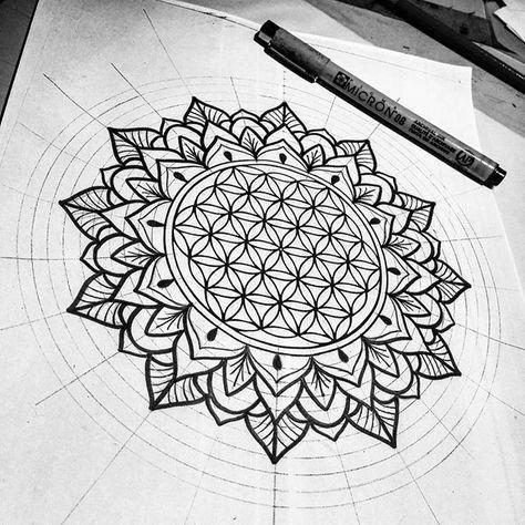 Mandala Tattoo Hand Mandalatattoo Blume Des Lebens Mandala Blume Des Lebens Blume Des Lebens Tattoo