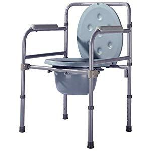 Elderly Toilet Chair Folding Commode Chair Lightweight Aluminum Alloy Toilet Seat And Frame With Armrests Home Impr Hospital Furniture Steel Chair Toilet Seat