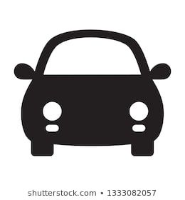Car Front View Icon On Transparent Background Vector